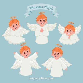 Śliczna kolekcja boże narodzenie aniołowie
