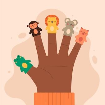 Śliczna kolekcja lalek na palec