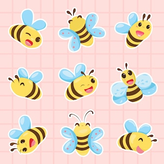 Śliczna kolekcja pszczół