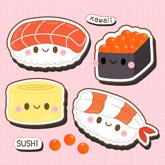 Śliczna kolekcja sushi kawaii - japońskie sushi