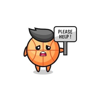Śliczna koszykówka trzymaj baner, proszę o pomoc, ładny design