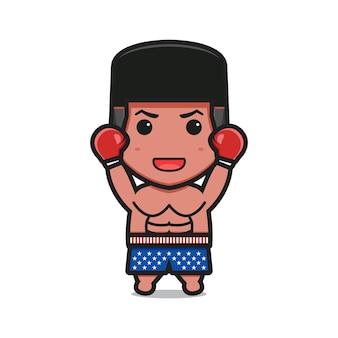Śliczna kreskówka boksera z ilustracją spodenki do druku w stanach zjednoczonych