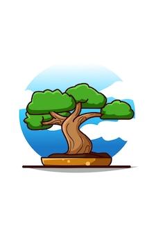 Śliczna kreskówka bonsai