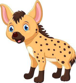 Śliczna kreskówka hiena