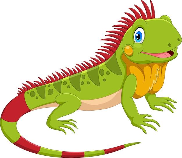 Śliczna kreskówka iguana