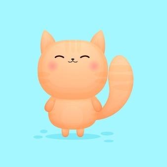 Śliczna kreskówka kotka