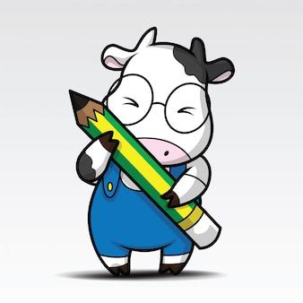 Śliczna kreskówka krowa