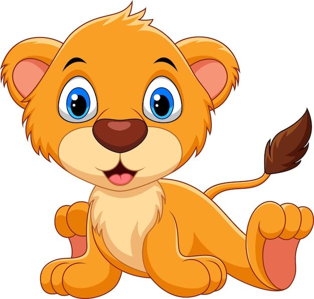 Śliczna kreskówka lwa