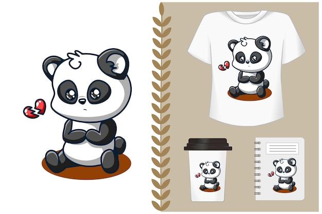 Śliczna kreskówka panda