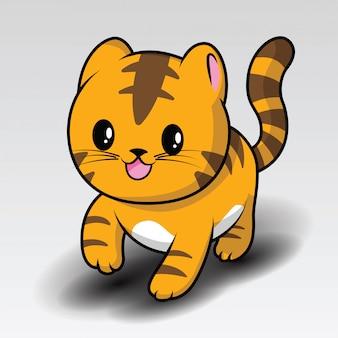 Śliczna kreskówka tygrys