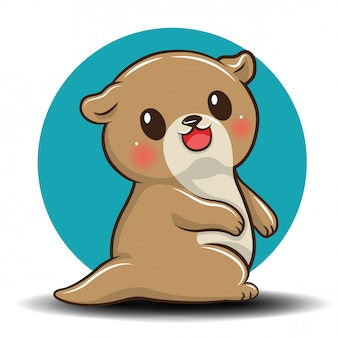 Śliczna kreskówka wydra