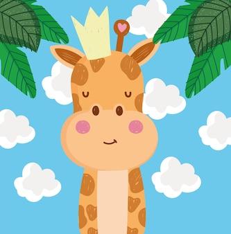 Śliczna kreskówka żyrafa
