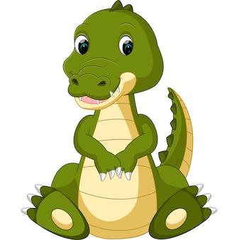 Śliczna krokodyl kreskówka