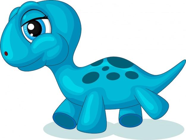 Śliczna mała dinosaur kreskówka