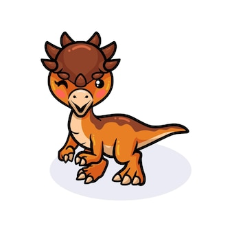 Śliczna mała kreskówka dinozaurów pachycefalozaur