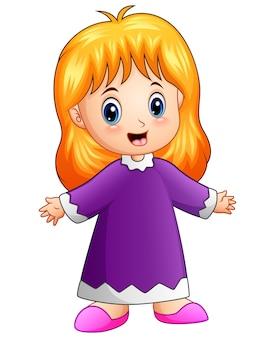 Śliczna małej dziewczynki kreskówka