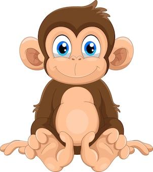 Śliczna małpa kreskówka
