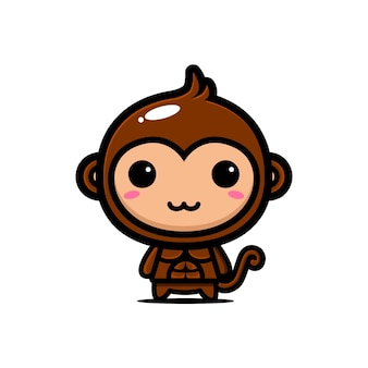 Śliczna małpa silna i muskularna