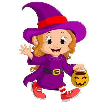 Śliczna młoda czarownica