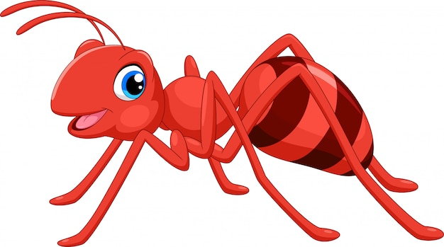 Śliczna mrówka kreskówka