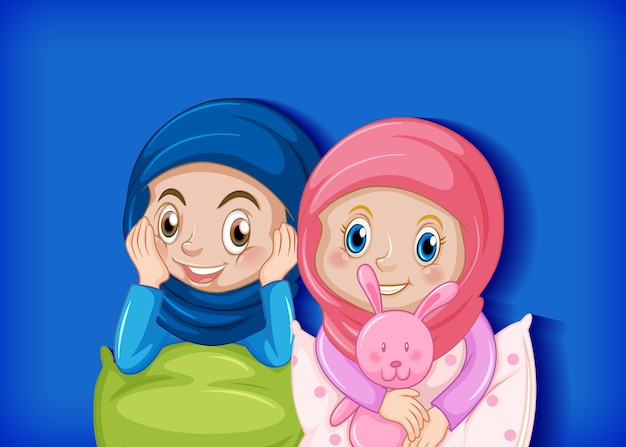 Śliczna muzułmańska przyjaciółka