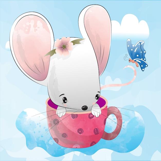 Śliczna mysz ilustracja