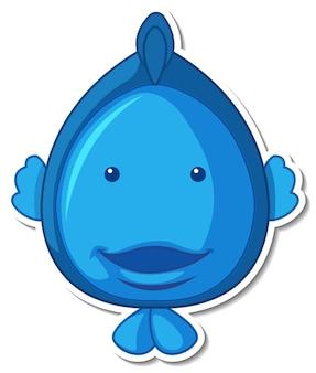 Śliczna naklejka z kreskówki zwierząt morskich ryb