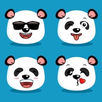 Śliczna pandy zwierzęca kreskówka