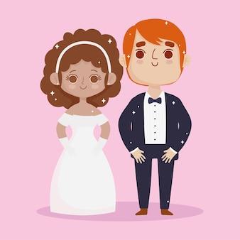 Śliczna para ślubna