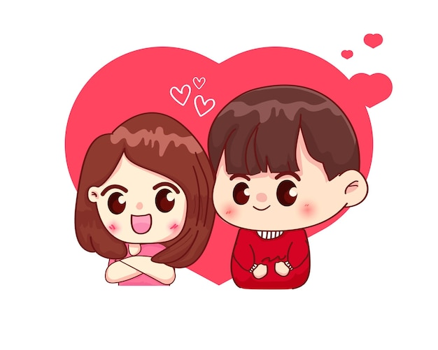 Śliczna para zakochanych
