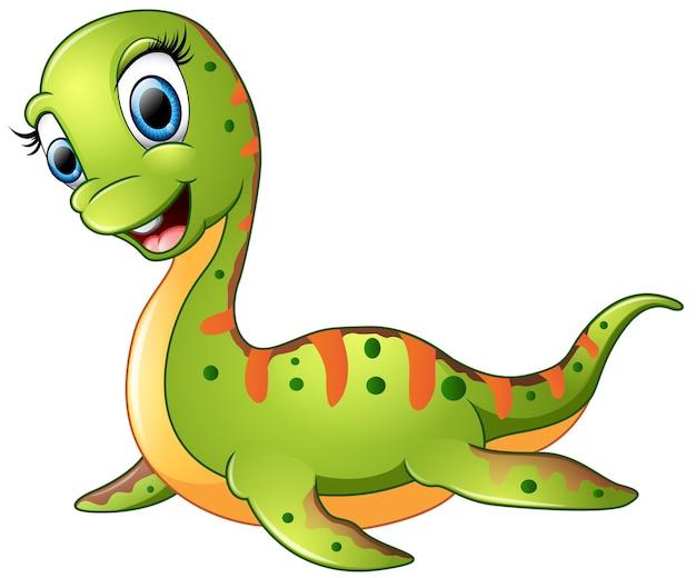 Śliczna plesiosaurus kreskówka