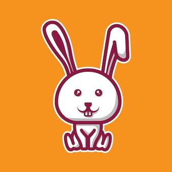 Śliczna postać chibi królika