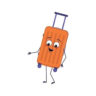 Śliczna postać walizki