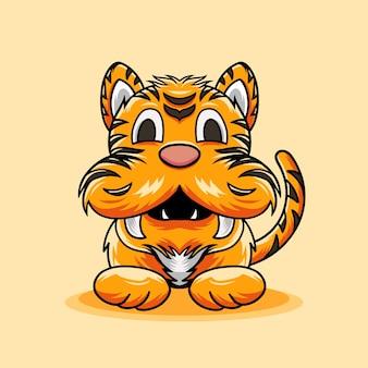 Śliczna postać z kreskówki tygrysa