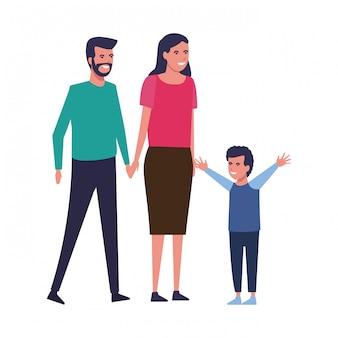 Śliczna rodzinna kreskówka