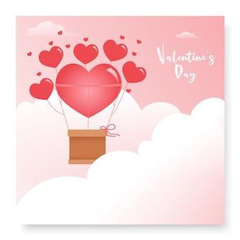 Śliczna romantyczna pocztówka na walentynki