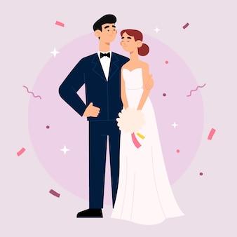Śliczna ślub para bierze ślub