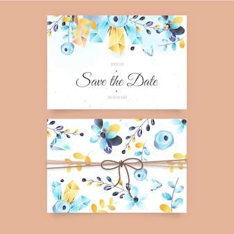 Śliczna ślubna zaproszenie karta