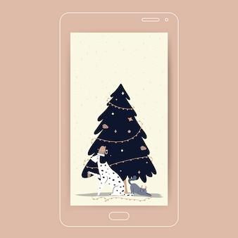 Śliczna świąteczna tapeta mobilna