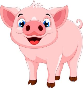 Śliczna świnia kreskówka
