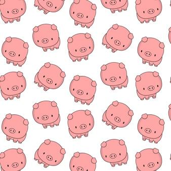 Śliczna świnia z dużą śliczną głową