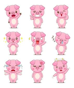 Śliczna świnia z innym wyrazem twarzy