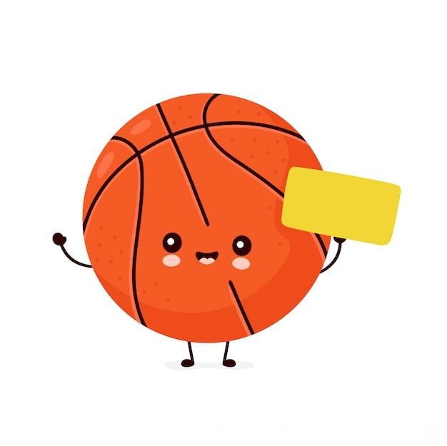 Śliczna szczęśliwa uśmiechnięta piłka do koszykówki