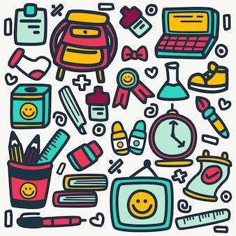 Śliczna szkolna doodle projekta ilustracja