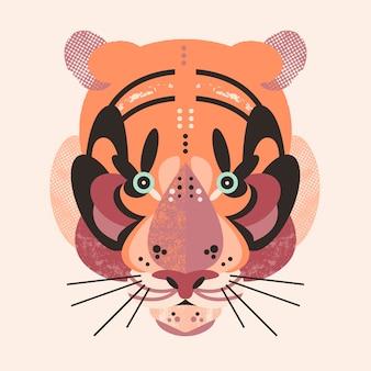 Śliczna urocza karta tygrysa
