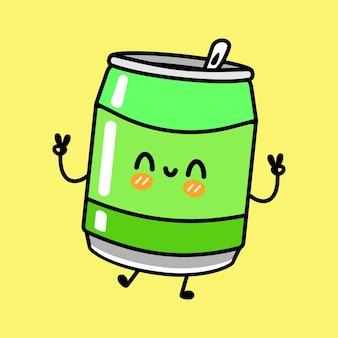 Śliczna zabawna postać zielonej sody