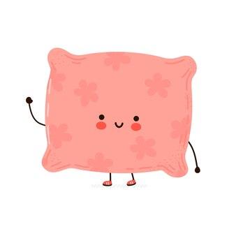 Śliczna zabawna szczęśliwa postać poduszki pillow
