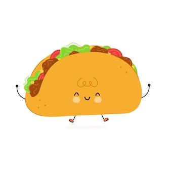 Śliczna zabawna szczęśliwa postać taco