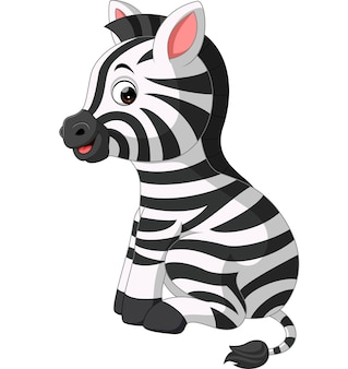 Śliczna zebry kreskówka