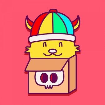Śliczna zwierzęca doodle projekta ilustracja